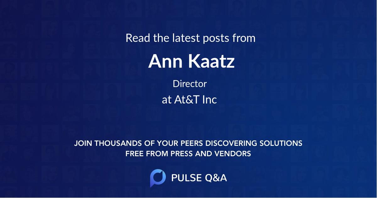 Ann Kaatz