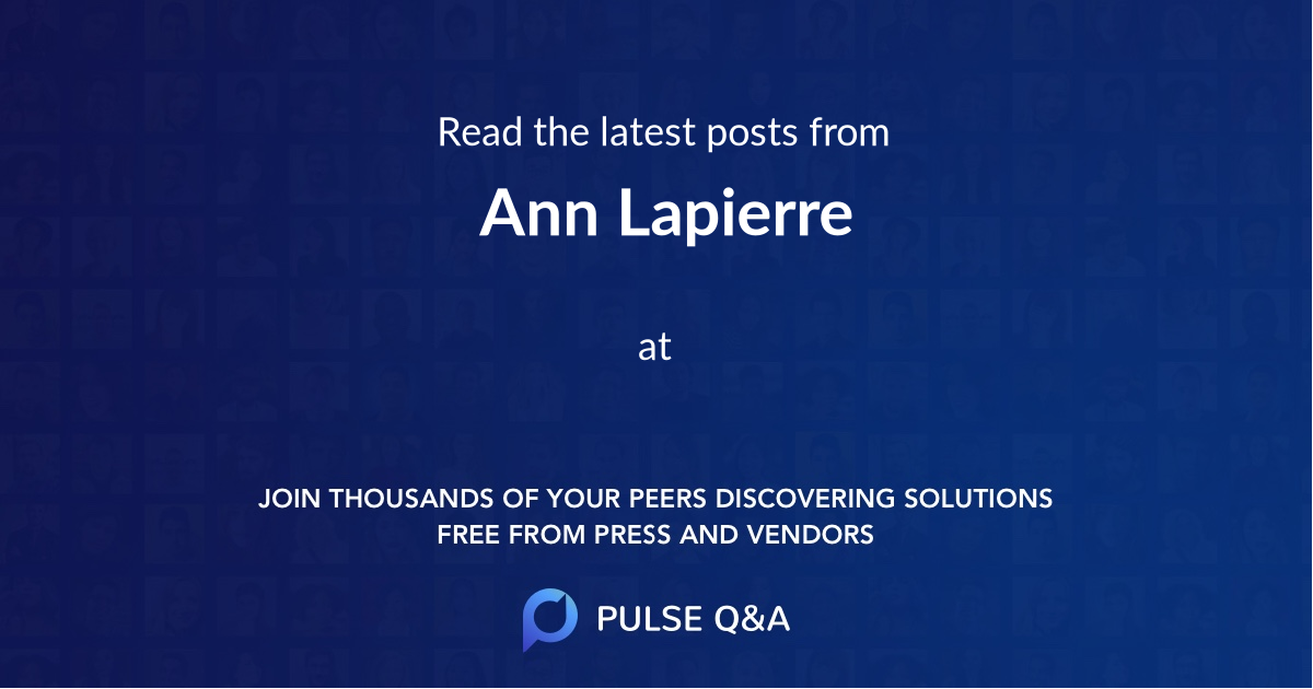 Ann Lapierre
