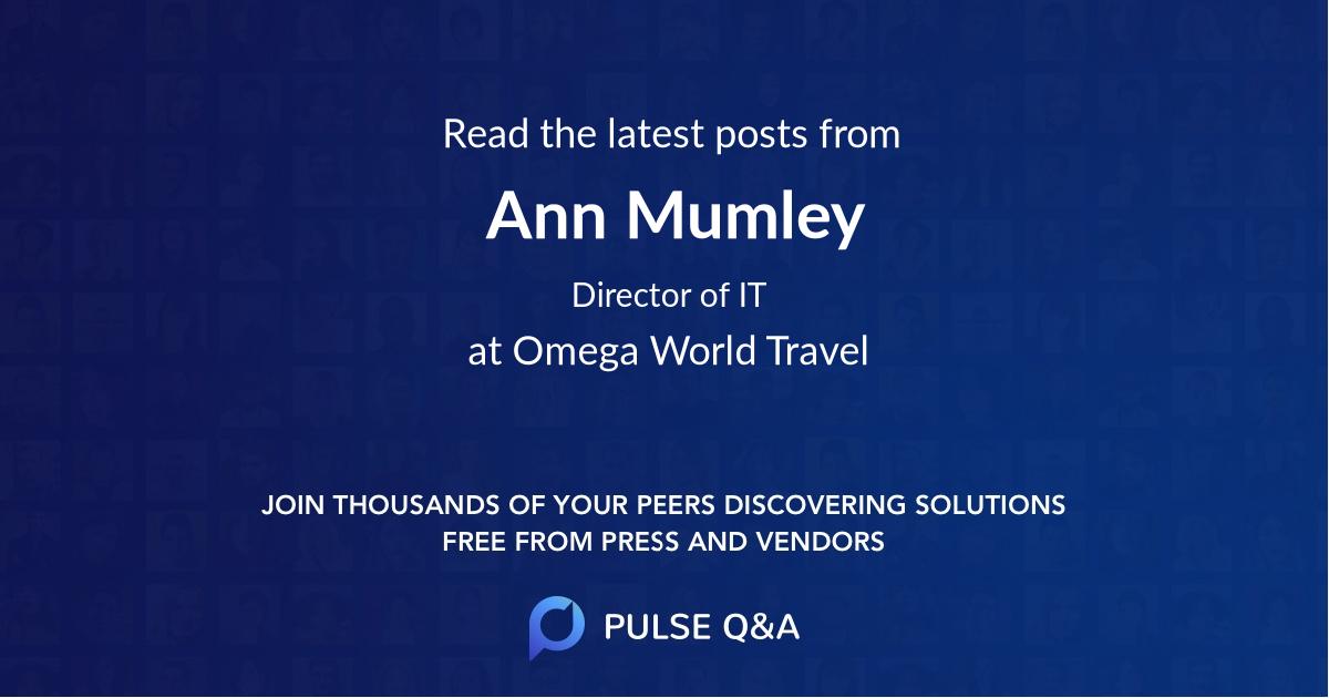 Ann Mumley