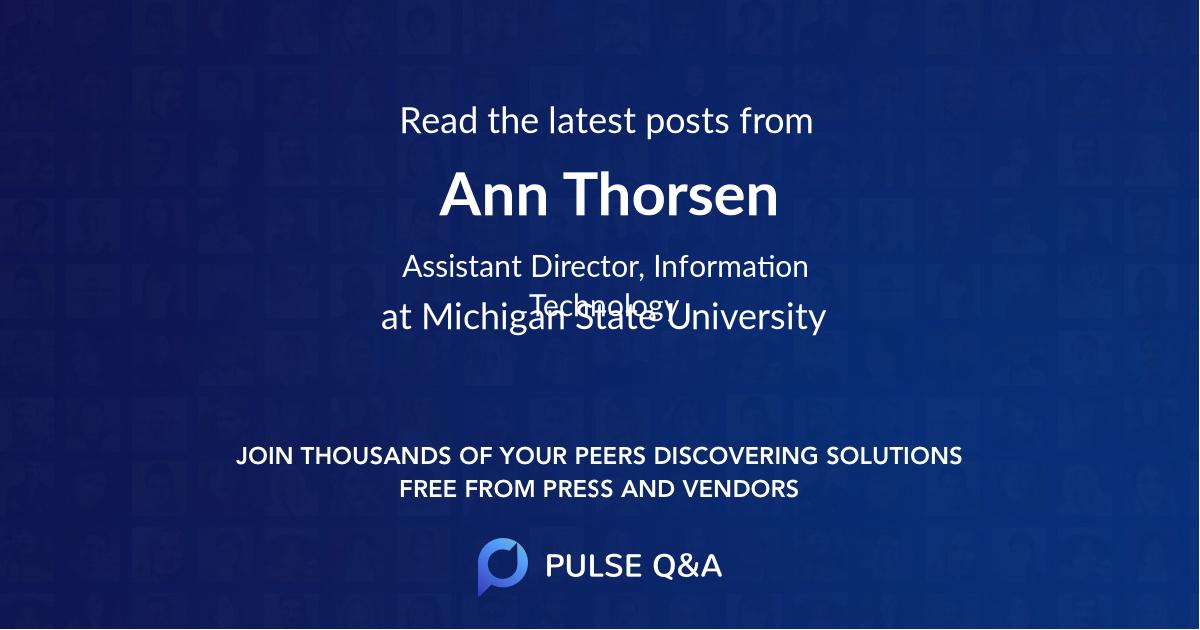 Ann Thorsen