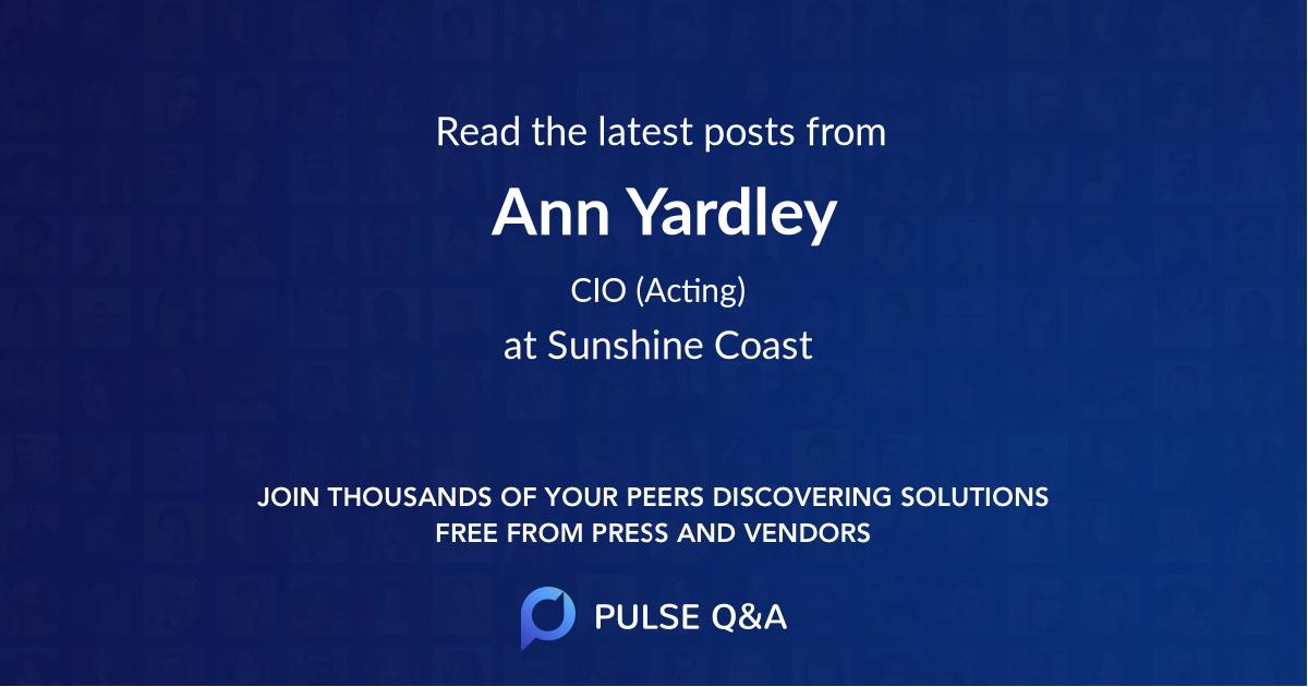 Ann Yardley