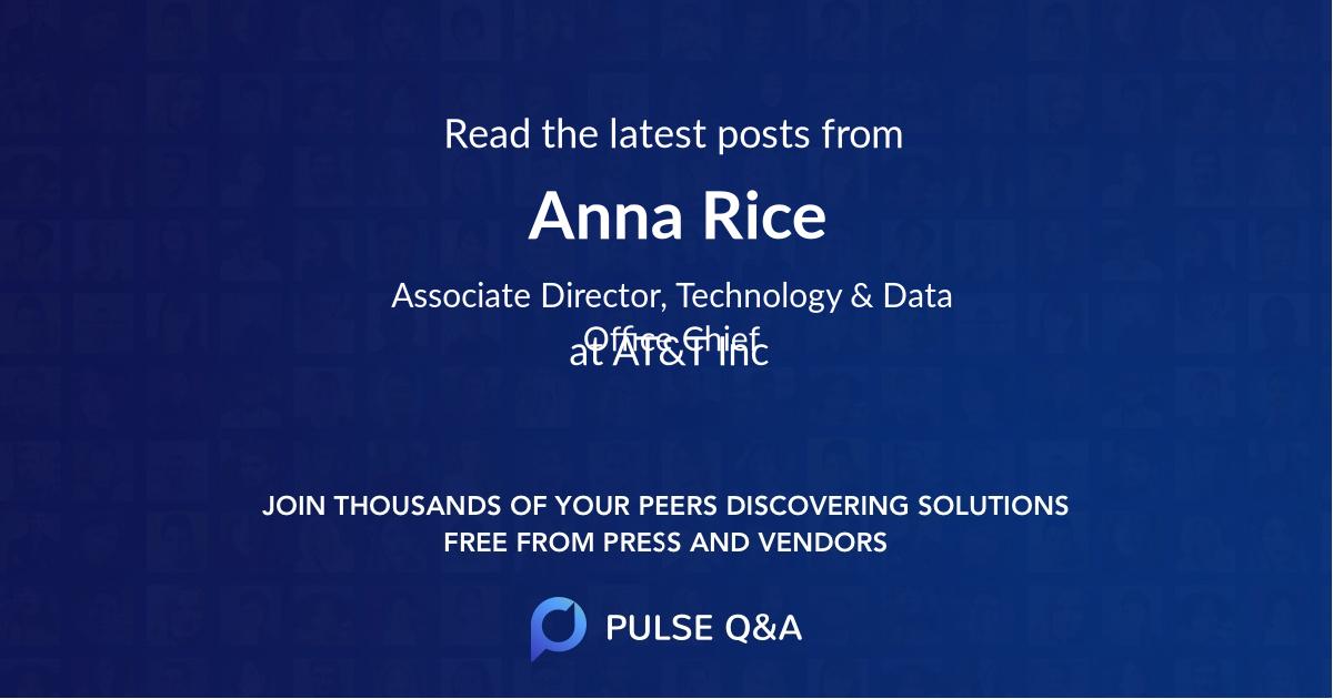Anna Rice