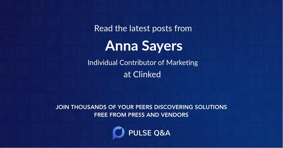 Anna Sayers
