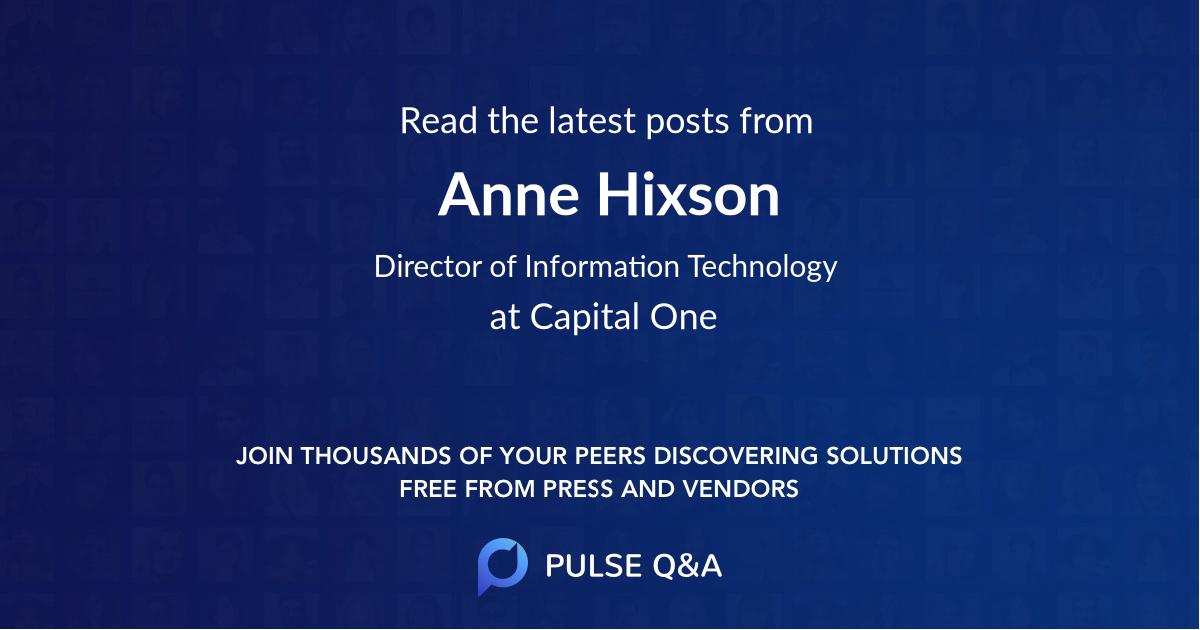 Anne Hixson