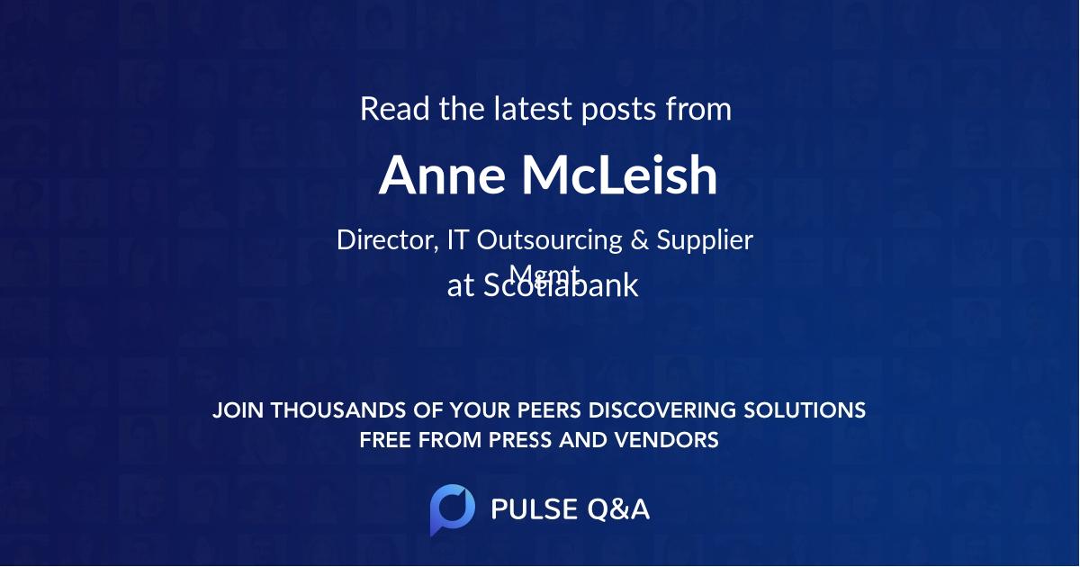 Anne McLeish