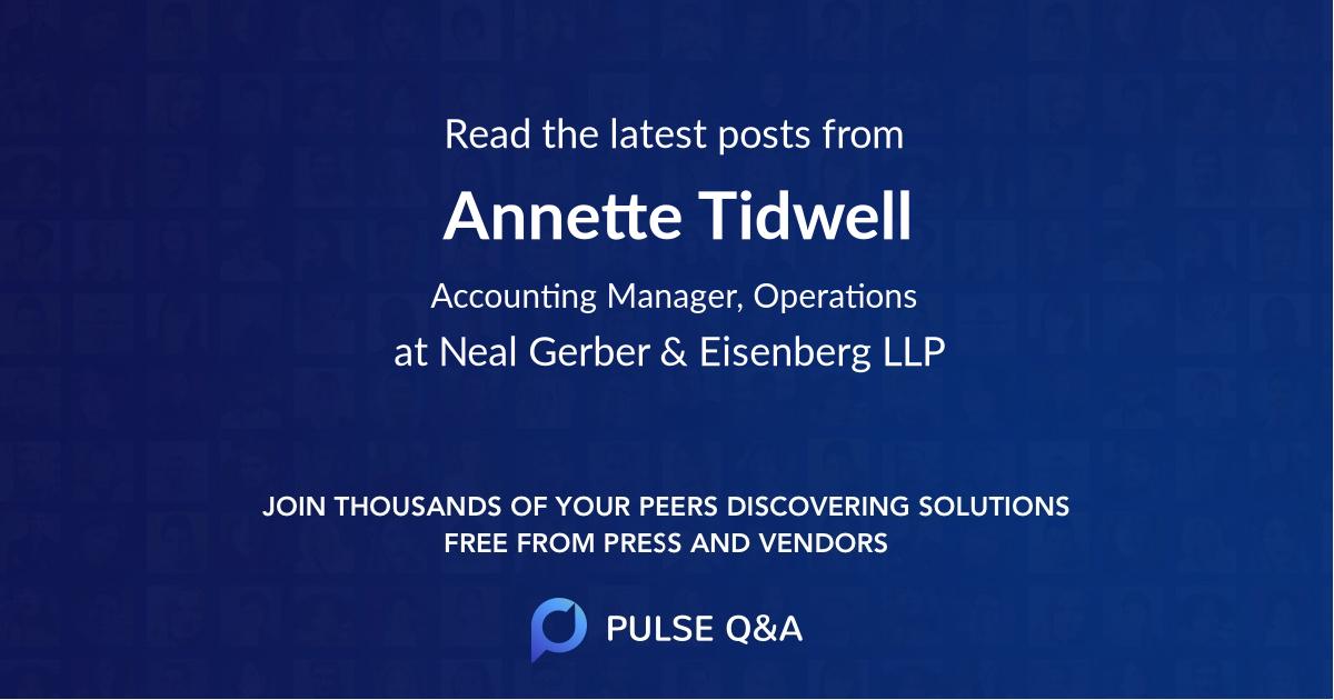 Annette Tidwell