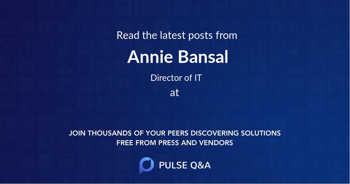 Annie Bansal
