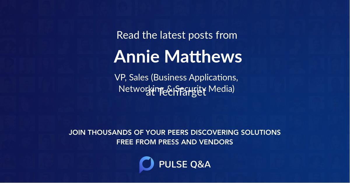 Annie Matthews