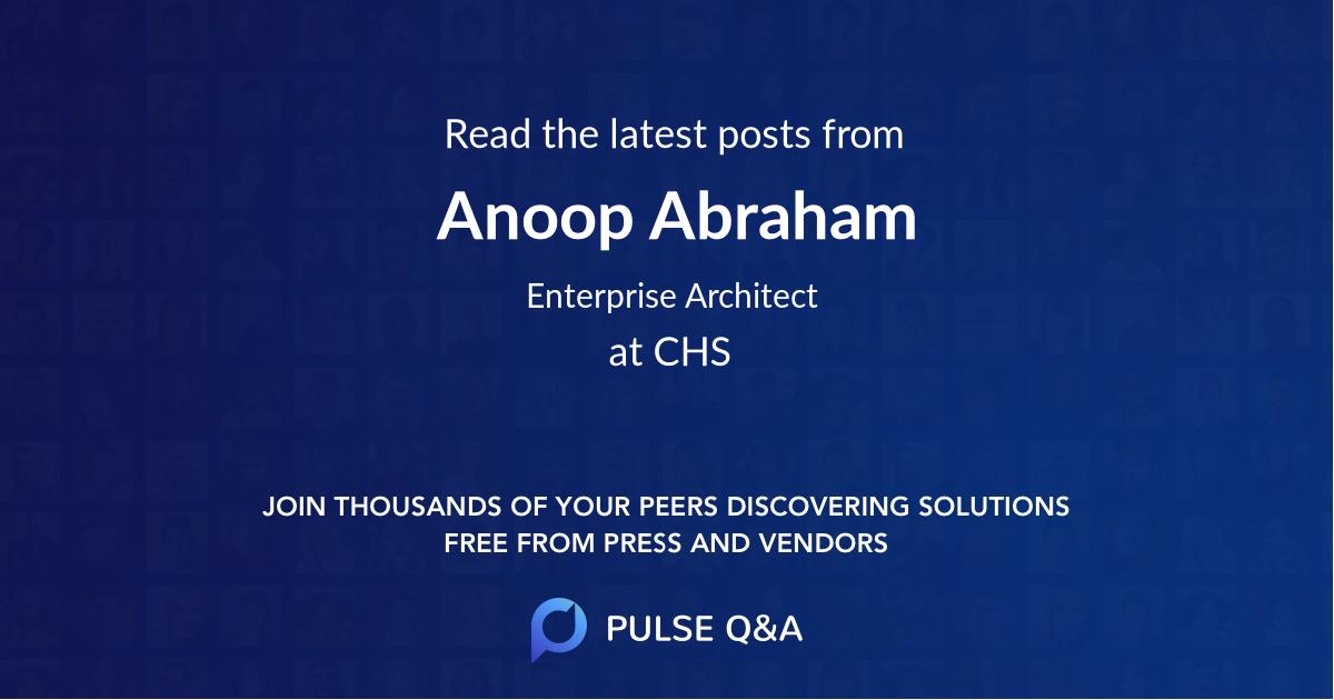Anoop Abraham