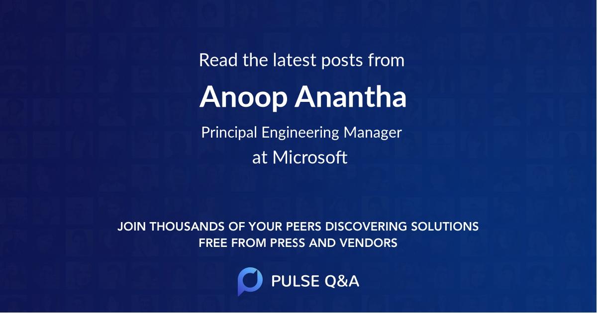 Anoop Anantha