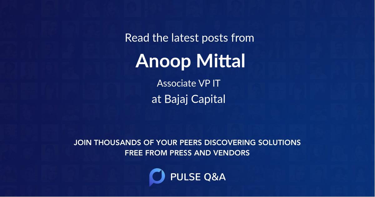 Anoop Mittal