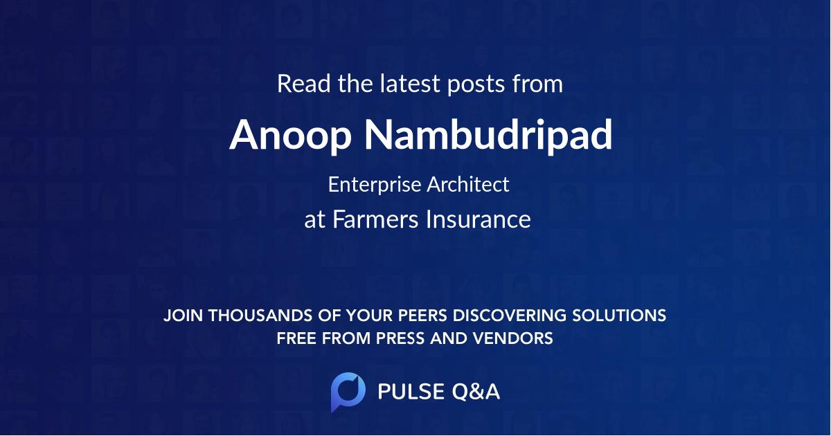 Anoop Nambudripad