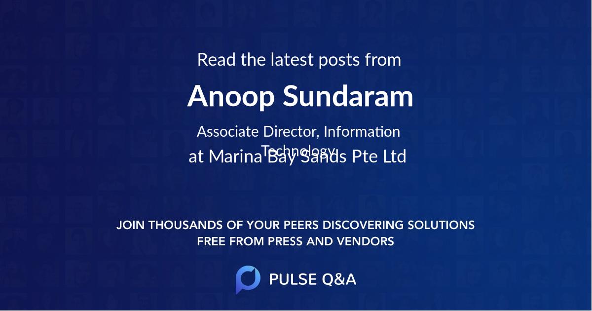 Anoop Sundaram