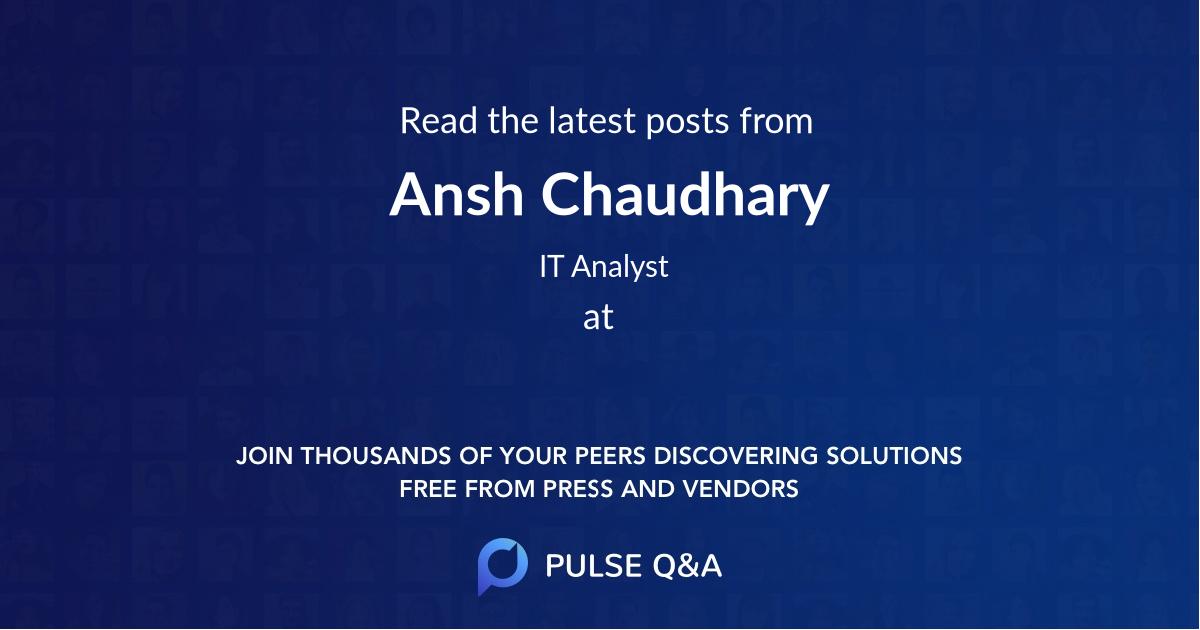 Ansh Chaudhary