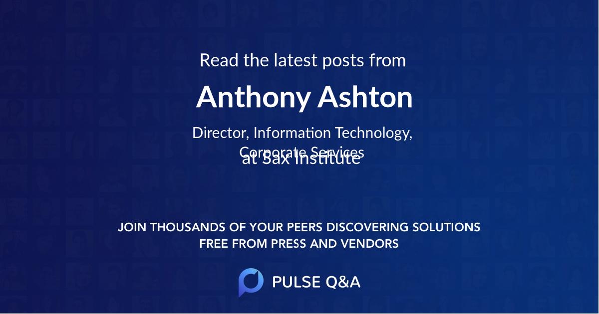 Anthony Ashton