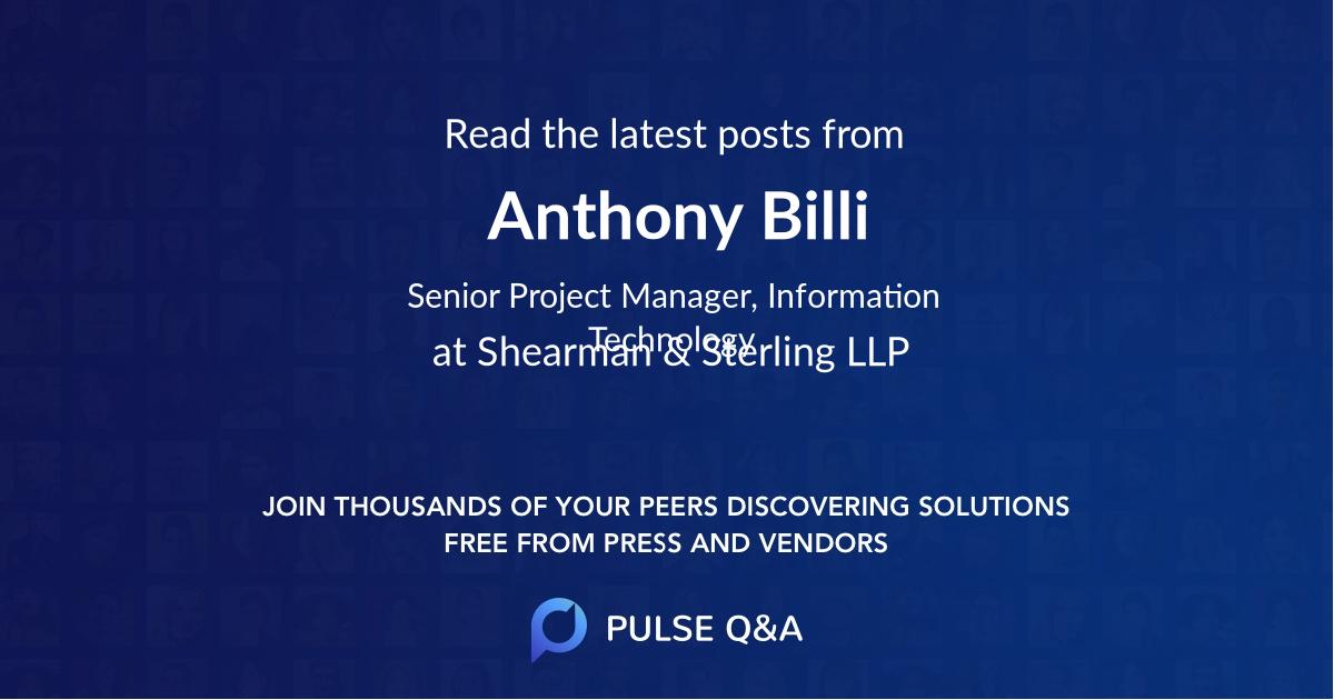 Anthony Billi