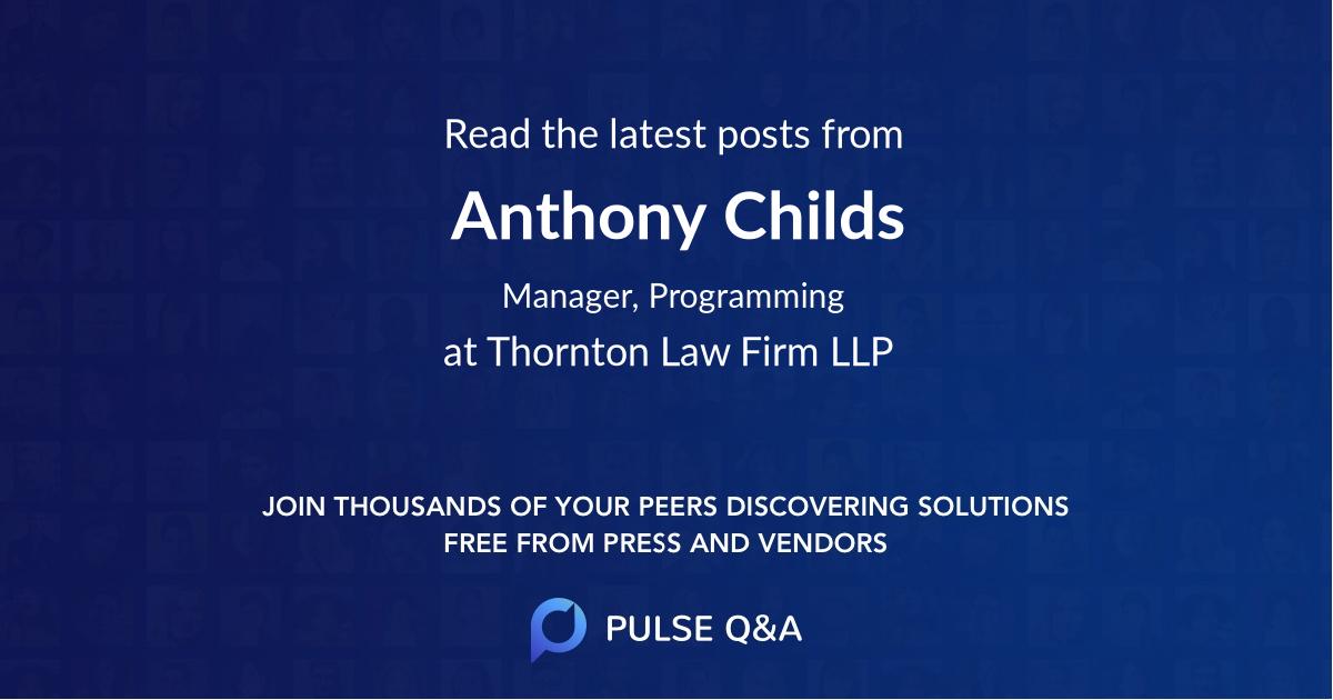 Anthony Childs