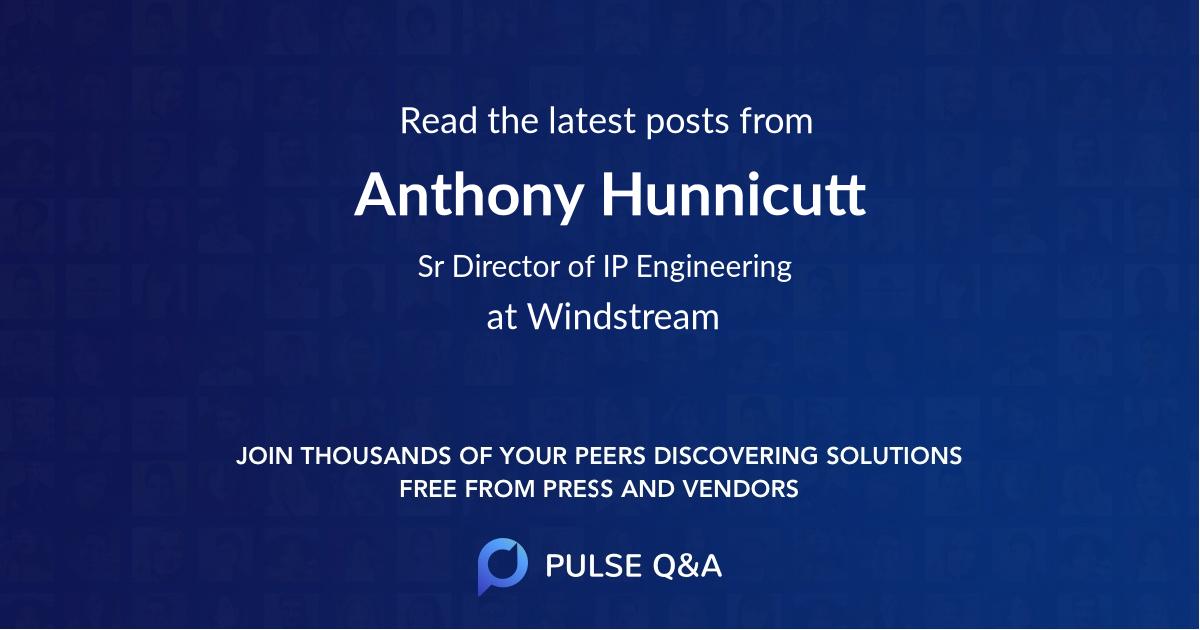 Anthony Hunnicutt
