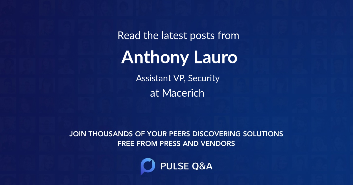 Anthony Lauro