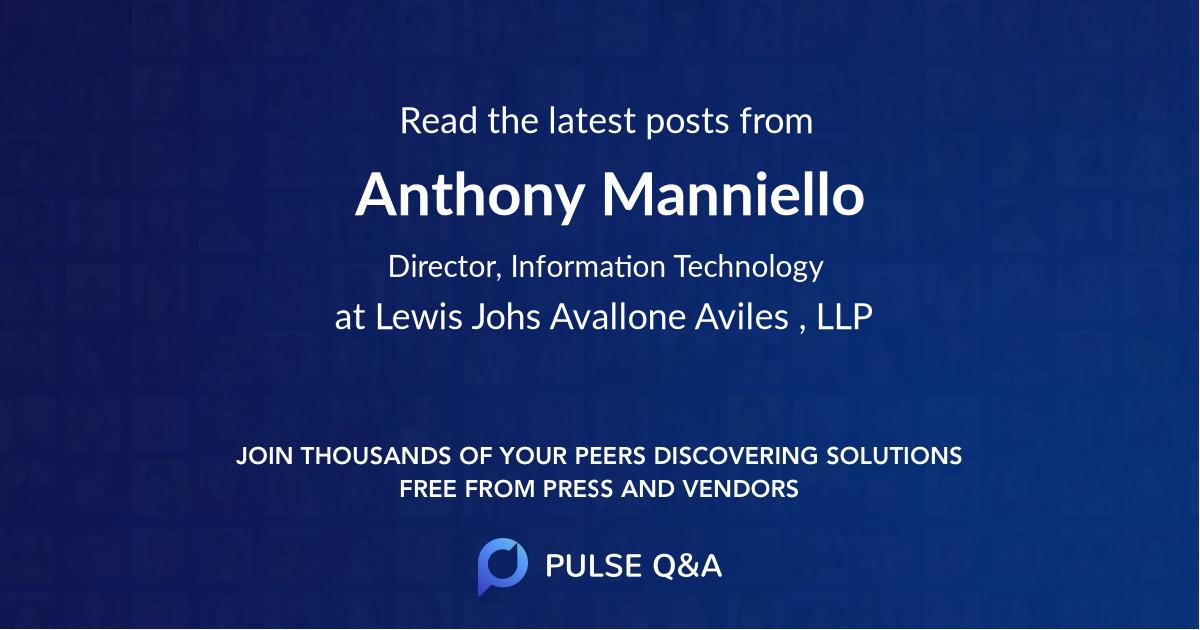 Anthony Manniello