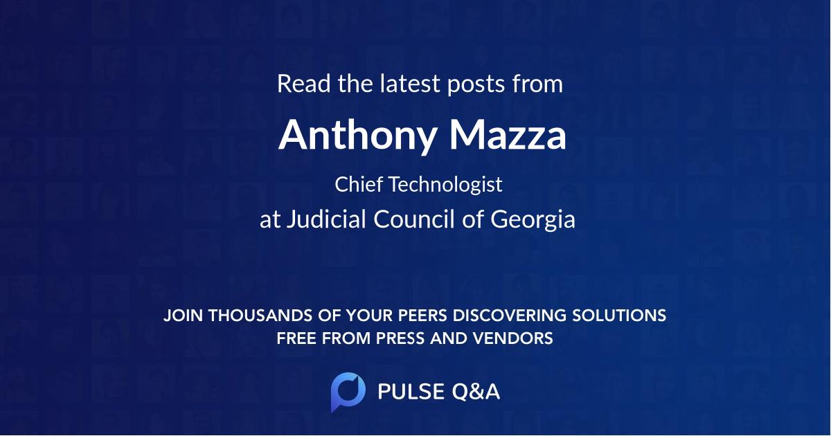 Anthony Mazza
