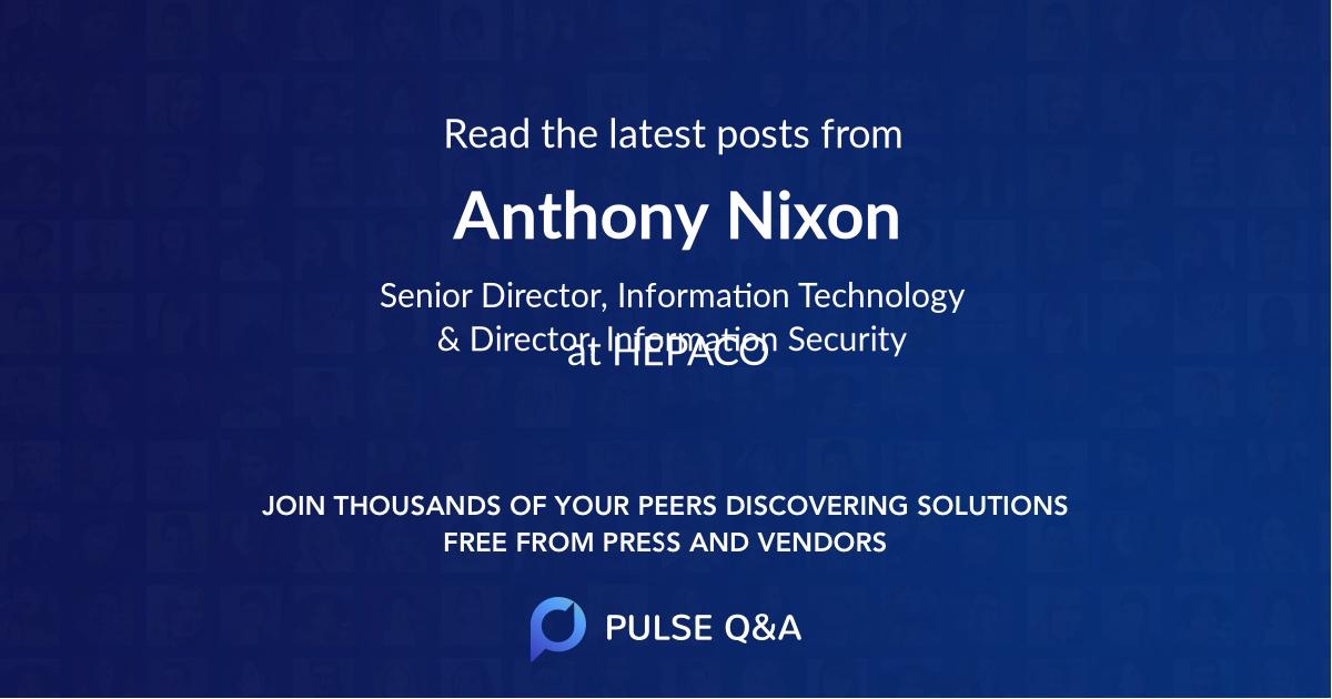 Anthony Nixon