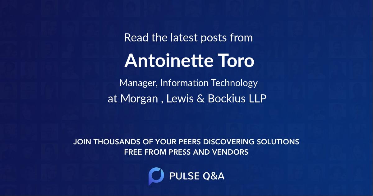 Antoinette Toro