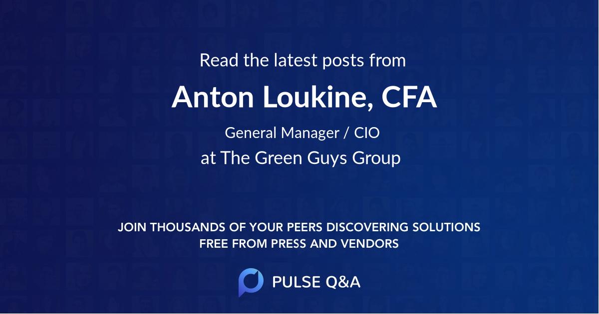 Anton Loukine, CFA