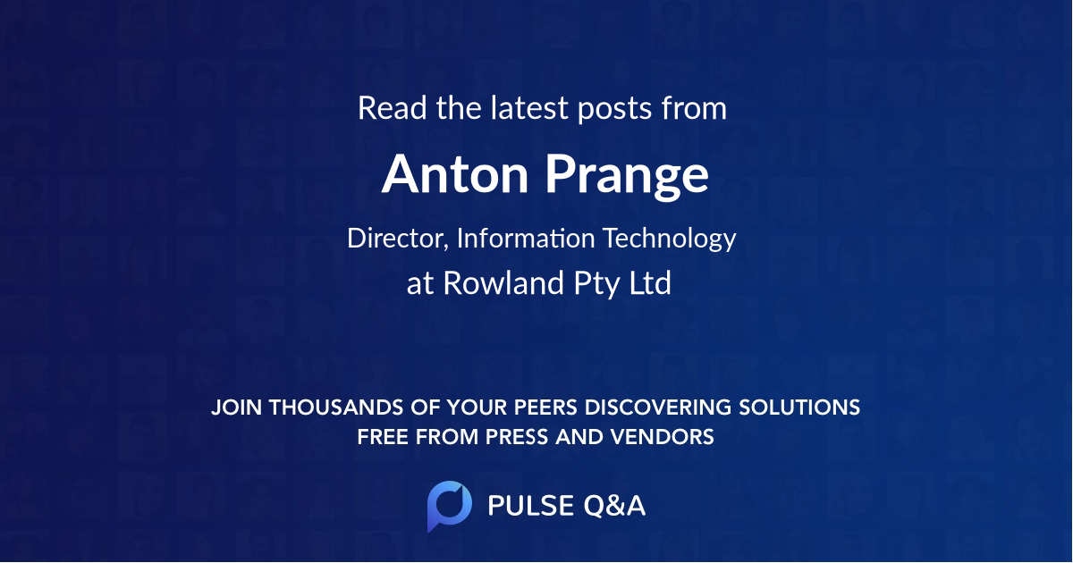 Anton Prange