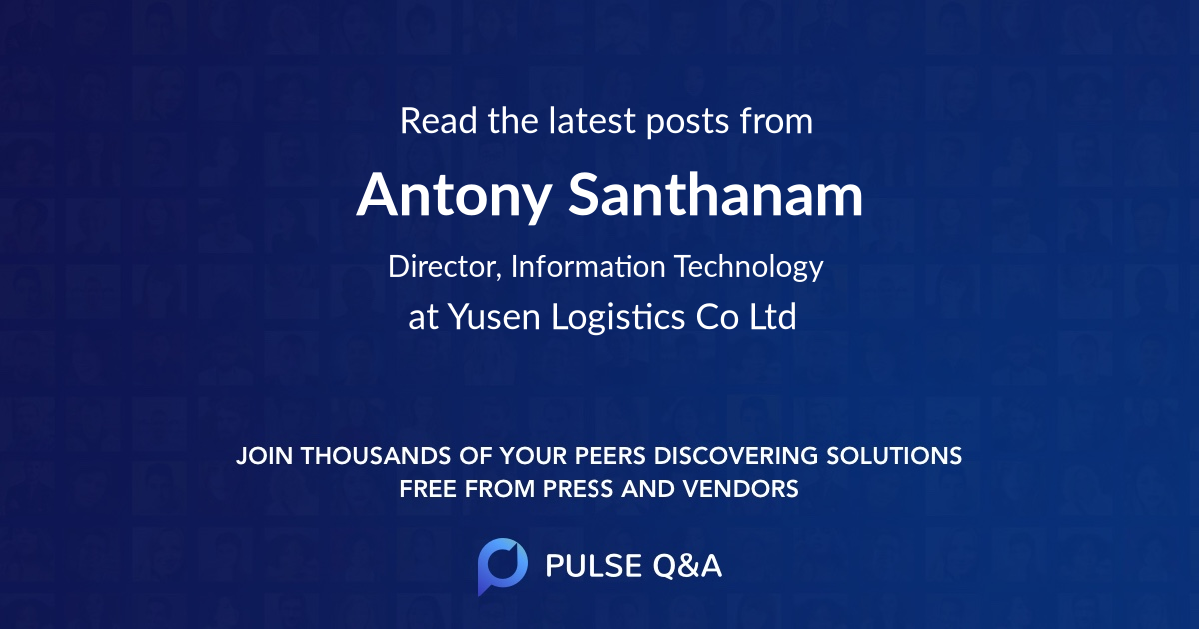 Antony Santhanam