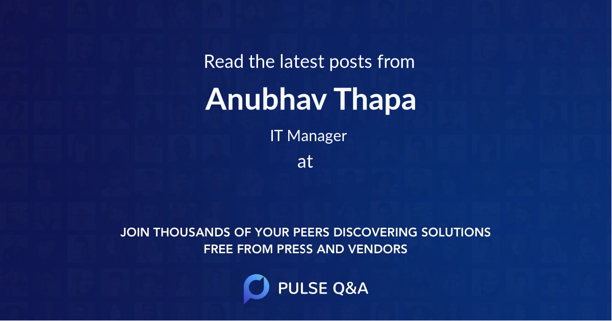 Anubhav Thapa