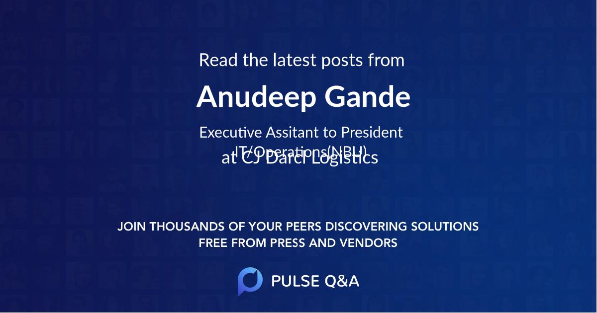 Anudeep Gande