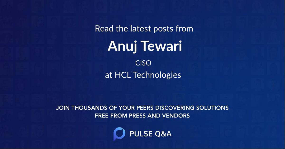 Anuj Tewari