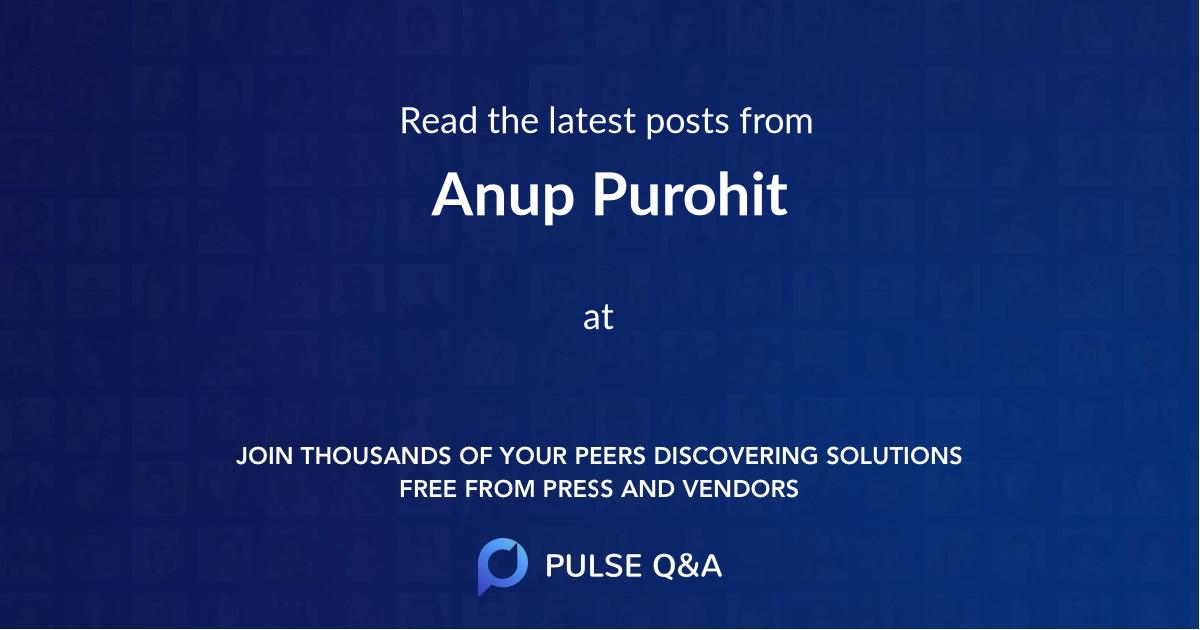 Anup Purohit