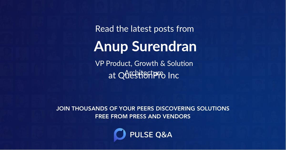 Anup Surendran