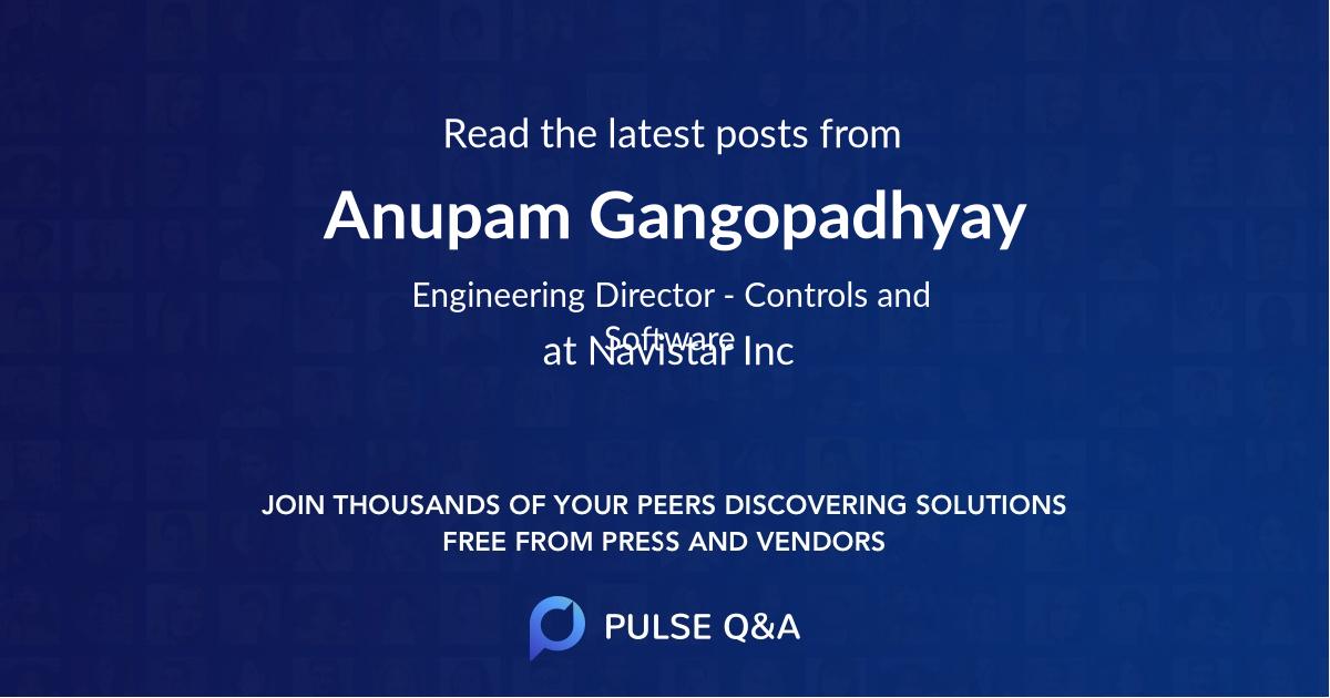 Anupam Gangopadhyay