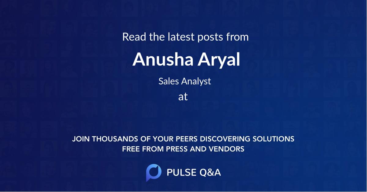 Anusha Aryal