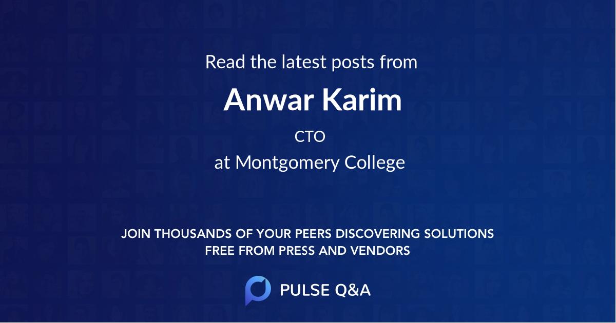 Anwar Karim