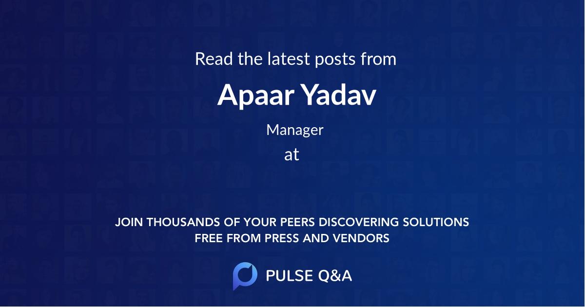 Apaar Yadav