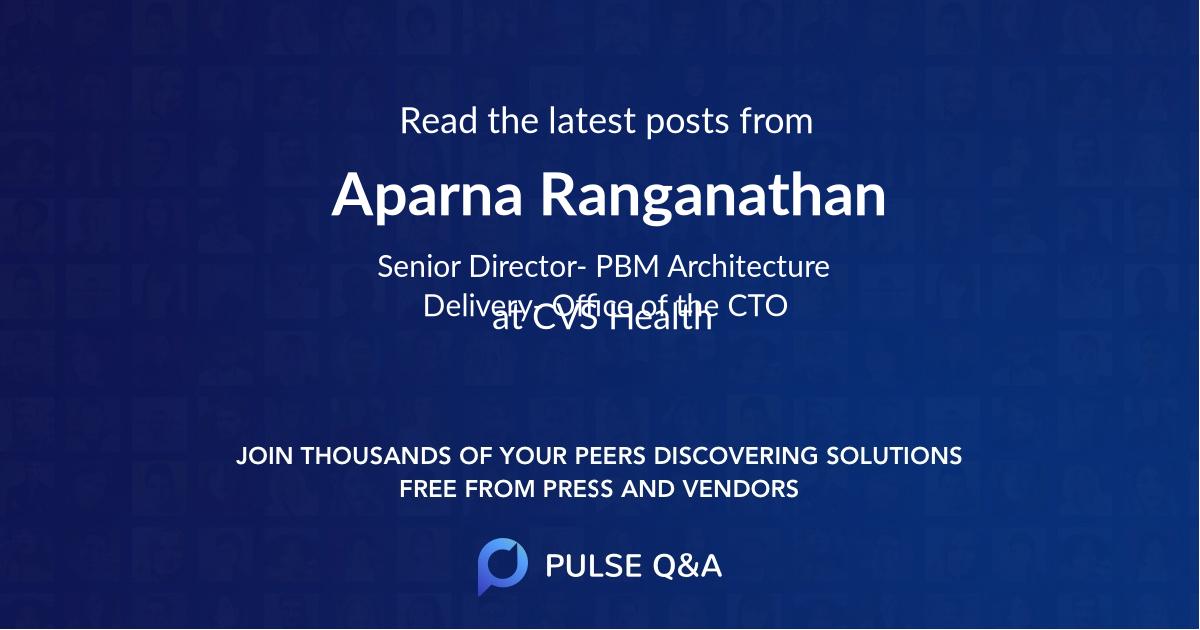 Aparna Ranganathan