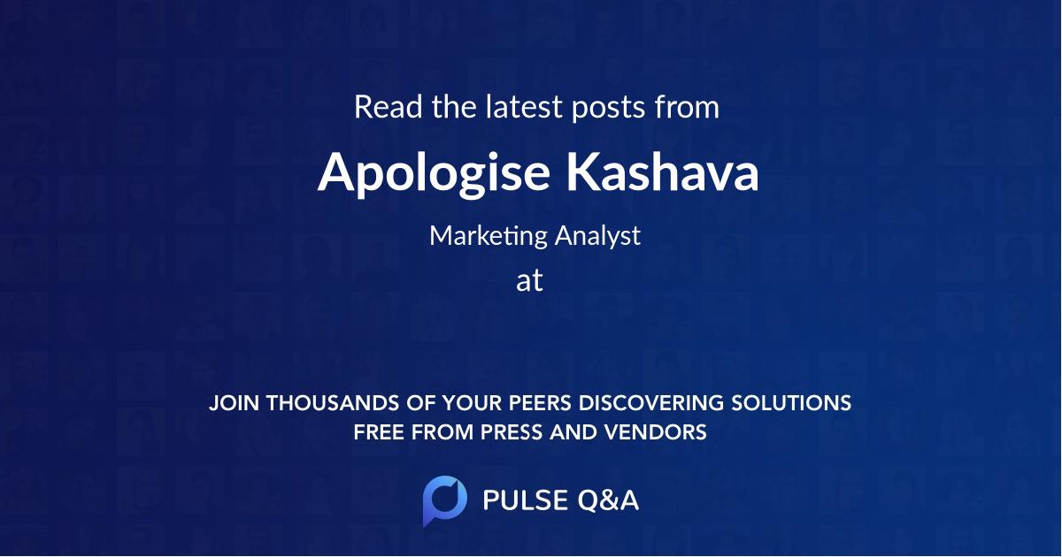 Apologise Kashava