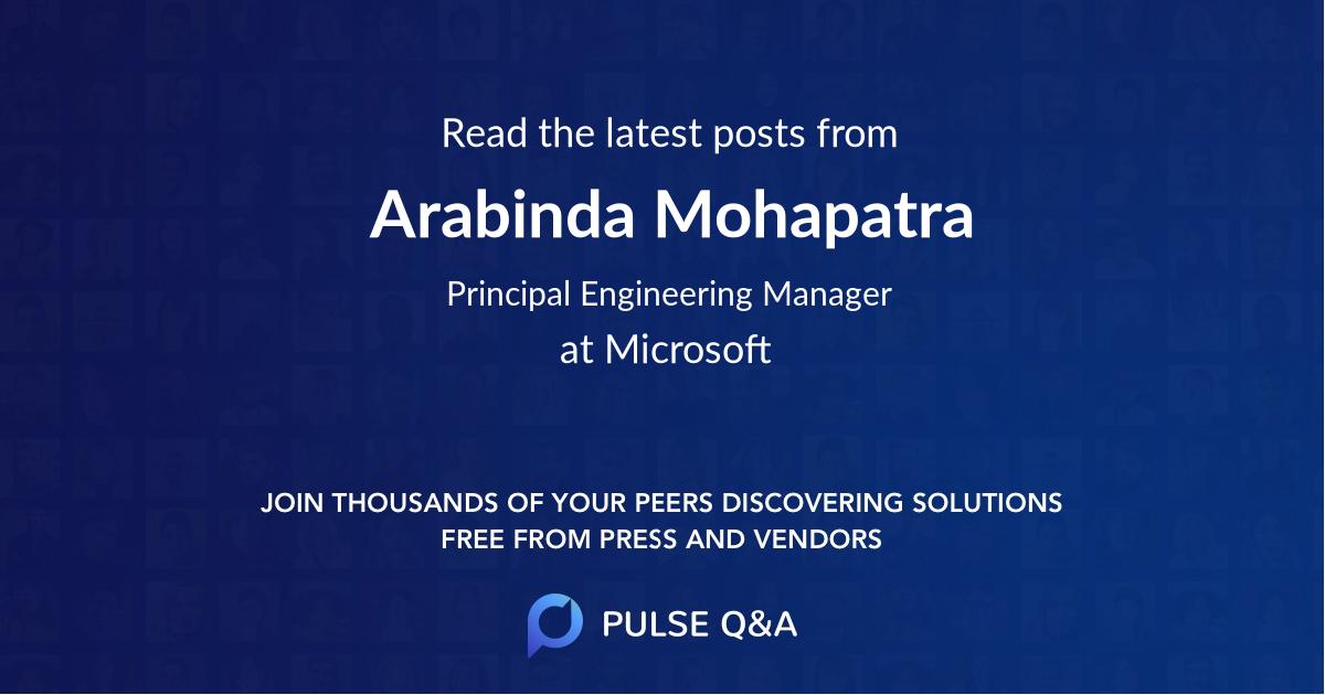 Arabinda Mohapatra