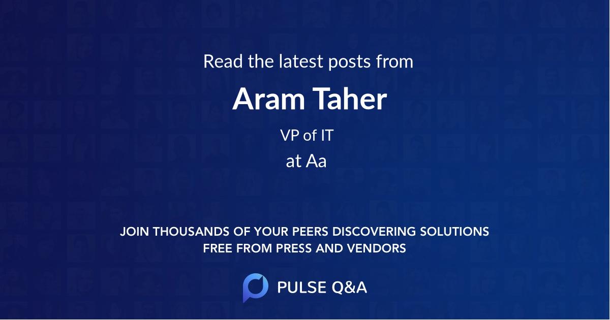 Aram Taher