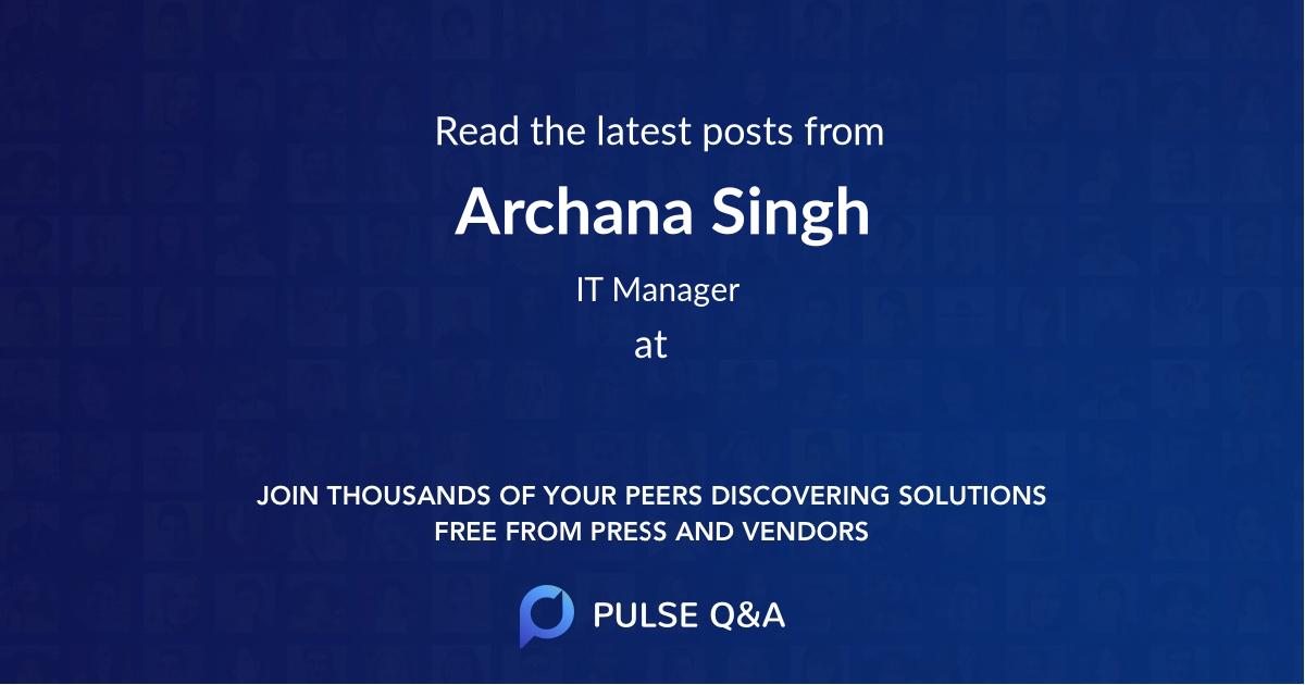 Archana Singh