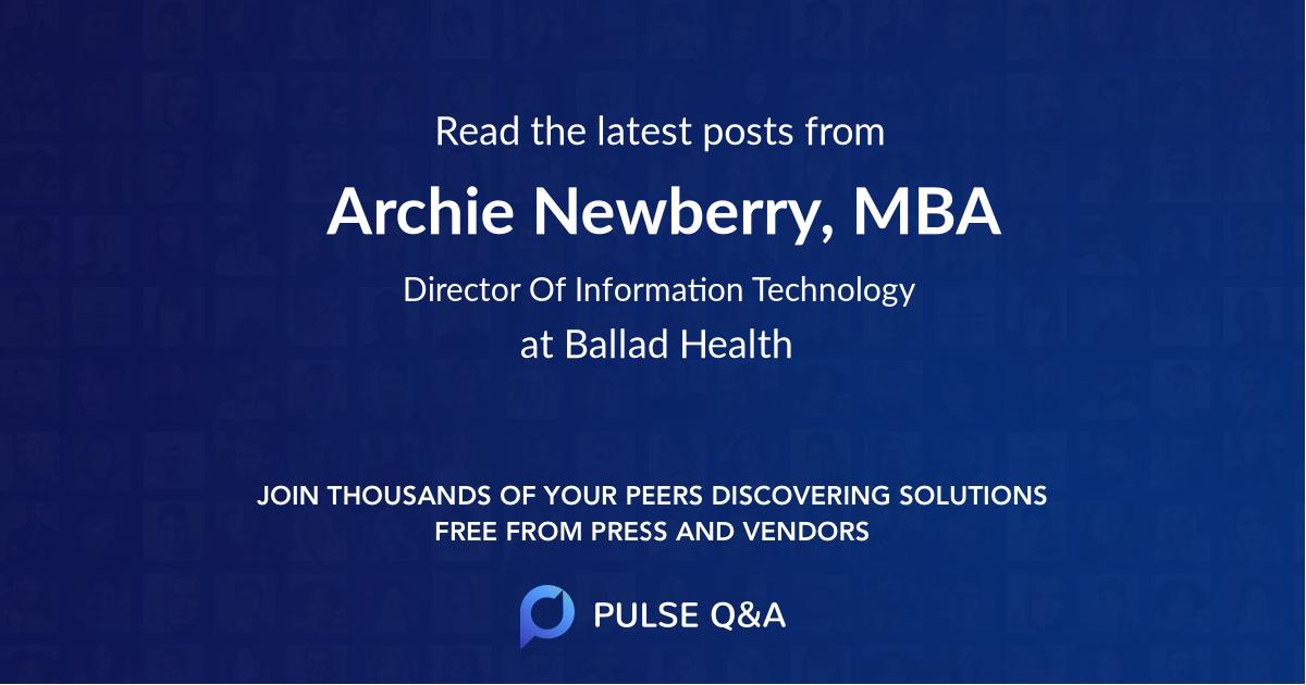 Archie Newberry, MBA