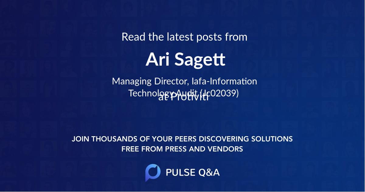 Ari Sagett