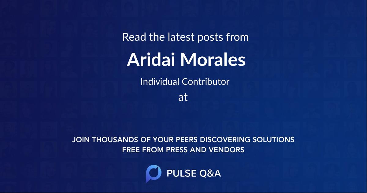 Aridai Morales