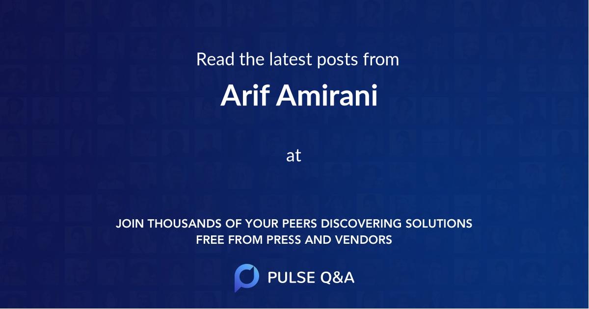 Arif Amirani