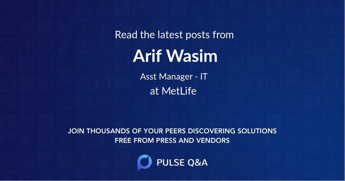Arif Wasim