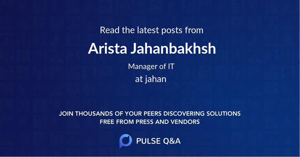 Arista Jahanbakhsh